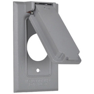 Hubbell 1C-SV Master Electrician Gray Weatherproof 1 Gang Flip Cover