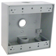Hubbell TGB50-3 Master Electrician Gray Weatherproof 2 Gang Outlet Box