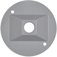 Hubbell RC-1-N Master Electrician Gray Weatherproof Round Lamp Cover