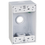 Hubbell FSB50-3-W Master Electrician White Weatherproof 1 Gang Outlet Box