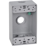 Hubbell FSB50-4 Master Electrician Gray Weatherproof 1 Gang Outlet Box