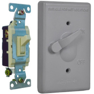 Hubbell TSS101 Master Electrician Gray 1 Gang 3 Way Switch Cover