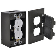 Hubbell FCD35-BR Master Electrician Bronze Duplex Receptacle Outlet Kit