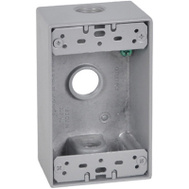 Hubbell FSB50-3X Master Electrician Gray Weatherproof 1 Gang Outlet Box