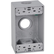 Hubbell FSB75-3X Master Electrician Gray Weatherproof 1G Outlet Box