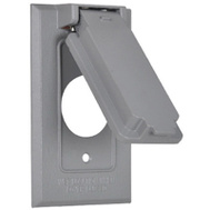 Hubbell 1C-SVX Master Electrician Gray Vertical Single Flip Cover