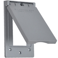 Hubbell 1C-GVX Master Electrician Gray Vertical Gfi Outlet Cover