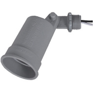 Hubbell LH150-2X Master Electrician Gray Weatherproof Porc Lampholder