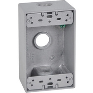 Hubbell FSB50-3 Master Electrician Gray Weatherproof 1 Gang Outlet Box