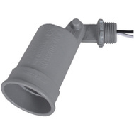 Hubbell LH150-2 Master Electrician Gray Weatherproof Porc Lampholder