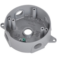 Hubbell BRD-4 Master Electrician Gray Weatherproof Round Outlet Box