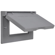 Hubbell 1C-GHX Master Electrician Gray Horizontal Gfi Snapcover