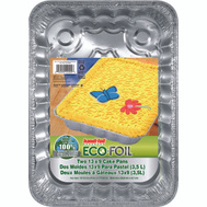 Handi Foil 22002.015 Eco-Foil 13 By 9 By 2 Utility Pan 2 Pack