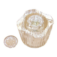 Larsen Supply HC-114 Sterling Clear Hot Or Cold Twin Handle
