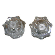 Larsen Supply HC-72 Pair Clear Fital Hot And Cold Handle