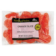 Ruckers Candy 1109 Family Choice Orange Slices Bag 11+Oz