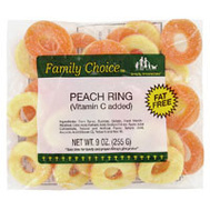 Ruckers Candy 1129 Family Choice Peach Rings 7 Ounce Bag
