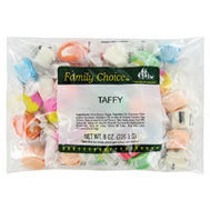 Ruckers Candy 1168 Family Choice Indiv Wrap Taffy 6.5 Oz Bag