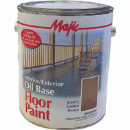 Yenkin Majestic 8-0072-1 Majic Paint Interior Exterior Oil Brown Floor Gallon