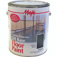 Yenkin Majestic 8-0073-1 Majic Paint Interior Exterior Oil Black Floor Gallon