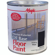 Yenkin Majestic 8-0073-2 Majic Paint Interior Exterior Oil Black Floor Quart