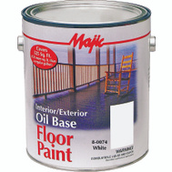 Yenkin Majestic 8-0074-1 Majic Paint Interior Exterior Oil White Floor Gallon