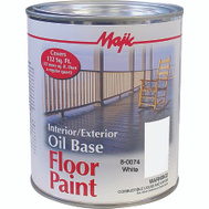 Yenkin Majestic 8-0074-2 Majic Paint Interior Exterior Oil White Floor Quart