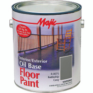 Yenkin Majestic 8-0075-1 Majic Paint Interior Exterior Oil Gray Floor Gallon