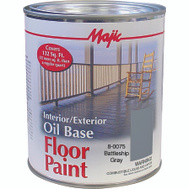 Yenkin Majestic 8-0075-2 Majic Paint Interior Exterior Oil Gray Floor Quart