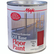 Yenkin Majestic 8-0076-2 Majic Paint Interior Exterior Oil Red Floor Quart