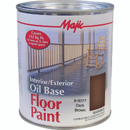 Yenkin Majestic 8-0077-2 Majic Paint Interior Exterior Oil Brown Floor Quart