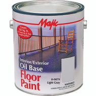 Yenkin Majestic 8-0079-1 Majic Paint Interior Exterior Oil Gray Floor Gallon