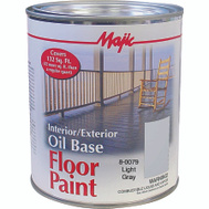 Yenkin Majestic 8-0079-2 Majic Paint Interior Exterior Oil Gray Floor Quart