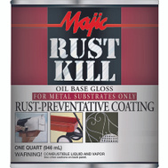 Yenkin Majestic 8-6000-2 Majic Paint Rust Kill Gloss Black Quart