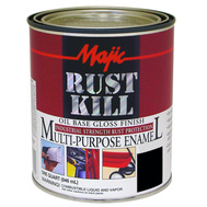 Yenkin Majestic 8-6001-2 Majic Paint Rust Kill Gloss White Quart
