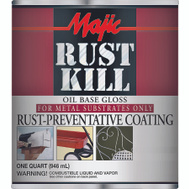Yenkin Majestic 8-6009-2 Majic Paint Rust Kill Battleship Gray Quart
