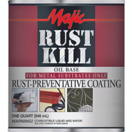 Yenkin Majestic 8-6013-2 Majic Paint Rust Kill Matte Black Quart