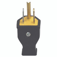 Cooper Wiring SA399 Black Grounded Plug