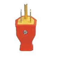 Cooper Wiring SA399O 3 Wire Grounded Straight Plug