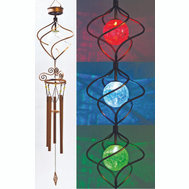 Headwind 830-1317 Solar Wind Chime LED Color Changing Spiral Spinner