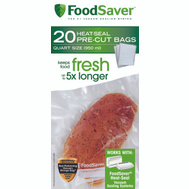 FoodSaver FSFSBF0216-NP Bags Heat-Seal Quart 8 Inch By 11 Inch Clear