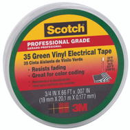 3M 10851-DL-10 Scotch Electrical Tape Vinyl Green 3/4 Inch By 66 Foot