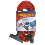 Prime Wire CB614730 No Overload 50 Foot 14/3 3Out Extension Cord/Breaker