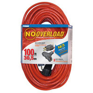 Prime Wire CB614735 No Overload 100 Foot 14/3 3 Outdoor Extension Cord With Breaker