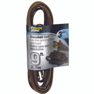 Power Zone OR670609 Indoor Extension Cord 16/2 Spt-2 Brown 9 Foot