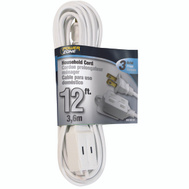 Power Zone OR660612 Cord Ext Indr 16/2Sptx12ft Wht