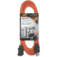 Power Zone OR501615 Cord Ext Outdoor 16/3x15ft Org