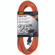 Power Zone OR501625 Cord Ext Outdoor 16/3X25ft Org