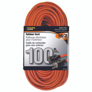 Power Zone OR501635 Cord Ext Outdr 16/3X100ft Org