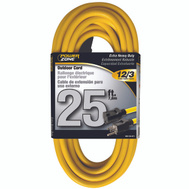 Power Zone OR500825 Cord Ext Outdoor 12/3x25ft Yel